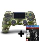 DualShock 4 ovladač - Green Cammo V2 + TLOU: Remastered (PS4)