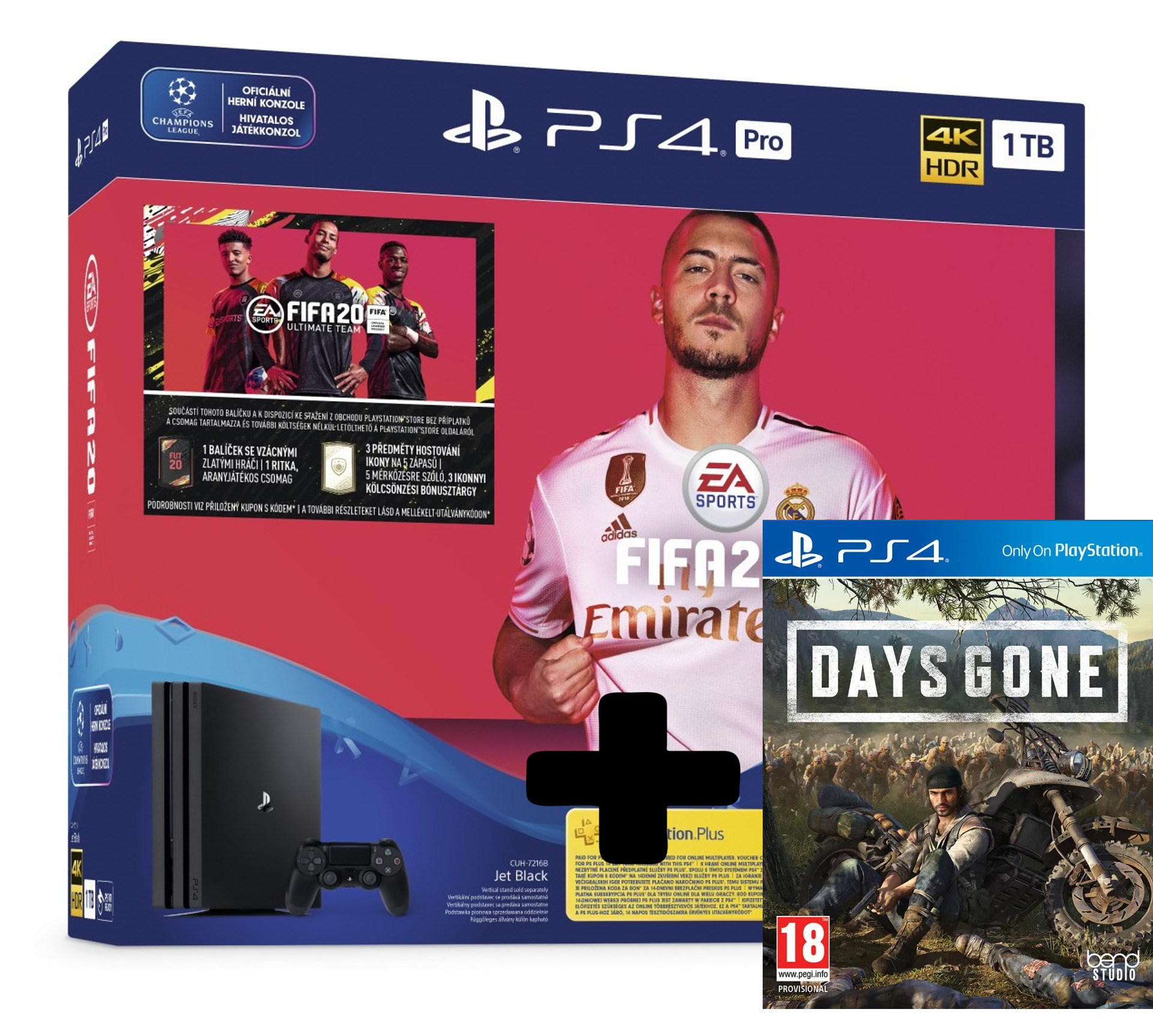 Konzole PlayStation 4 Pro 1TB + FIFA 20 + Days Gone (PS4)