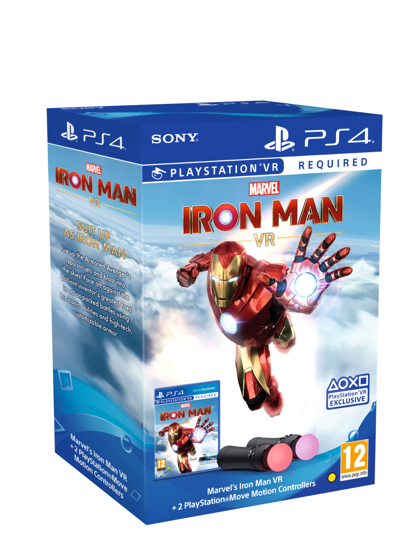 Marvel's Iron Man VR + PlayStation Move Twin Pack (PS4)
