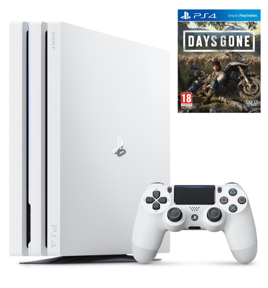 Konzole PlayStation 4 Pro 1TB - Glacier White + Days Gone (PS4)