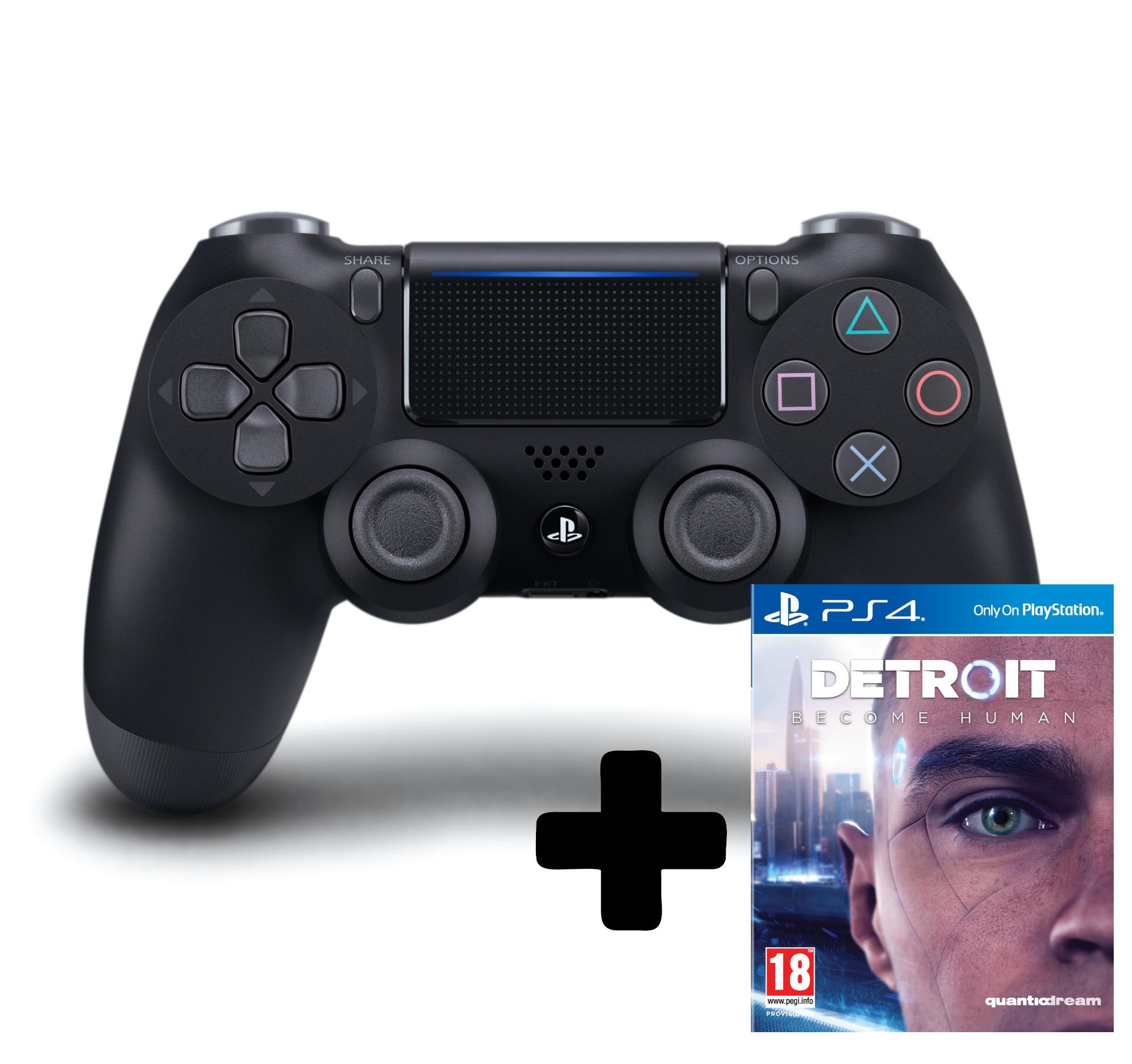 DualShock 4 ovladač - Černý V2 + Detroit: Become Human (PS4)