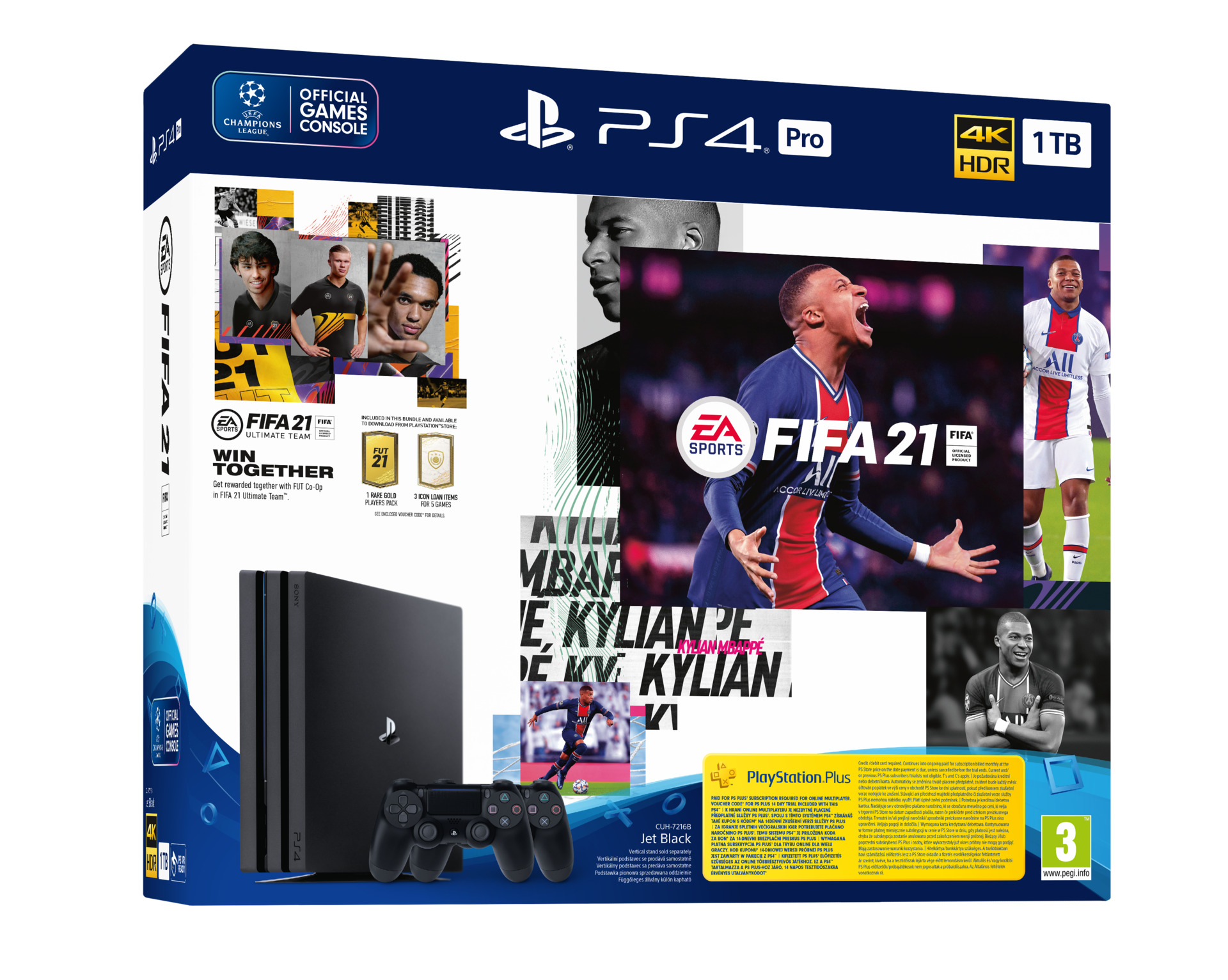 Konzole PlayStation 4 Pro 1TB + FIFA 21 + 2x ovladač (PS4)