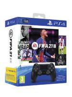 FIFA 21 + DualShock 4 ovladač černý (PS4)
