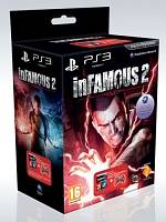 inFamous 2 + DualShock 3 Crimson Red Controller (PS3)