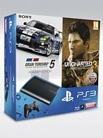 PlayStation 3 SuperSlim - 500 GB + Gran Turismo 5: AE + Uncharted 3 GOTY (PS3)
