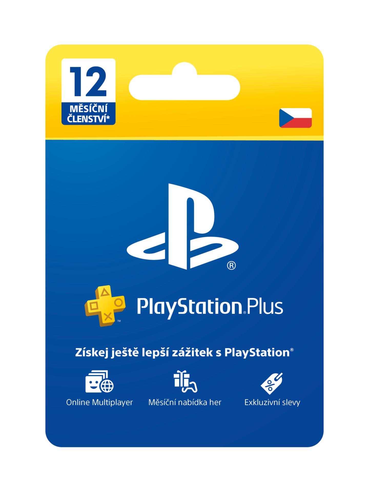 PlayStation Plus - členství na 12 měsíců (PS4)
