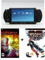 PlayStation Portable SLIM 3004 Black + Tekken + God of War (PSP)