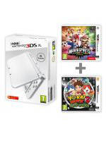 Konzole New Nintendo 3DS XL Pearl White + Mario Sports + Yo-Kai Watch 2