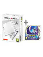 Konzole New Nintendo 3DS XL Pearl White + Pokémon Moon