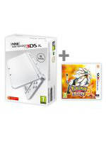 Konzole New Nintendo 3DS XL Pearl White + Pokémon Sun