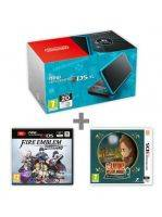 Konzole New Nintendo 2DS XL Black & Turquoise + FE: Warriors + Laytons MJ