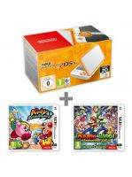 Konzole New Nintendo 2DS XL White & Orange + Kirby:BR + M&L:Superstar Saga