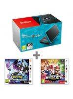 Konzole New Nintendo 2DS XL Black & Turquoise + Pokémon UM + Mario Sports