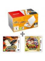 Konzole New Nintendo 2DS XL White & Orange + Pokémon US + Yo-Kai Watch 2