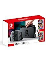 Konzole Nintendo Switch - Grey + Super Mario Odyssey + Mario Kart 8 Deluxe