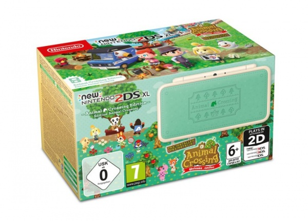 Konzole New Nintendo 2DS XL Animal Crossing Limited Edition + AC New Leaf (3DS)