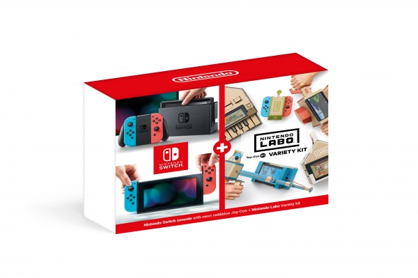 Konzole Nintendo Switch - Neon Red/Neon Blue + Nintendo Labo Variety Kit (SWITCH)