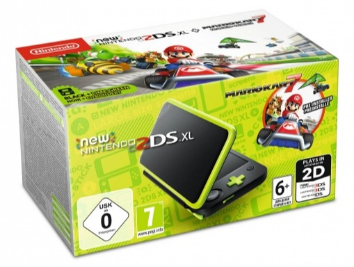 Konzole New Nintendo 2DS XL Black & Lime + Mario Kart 7 (3DS)