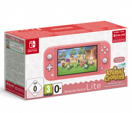 Konzole Nintendo Switch Lite - Coral + Animal Crossing: New Horizons + 3 měsíce NSO (SWITCH)