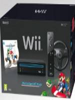 Konzole Nintendo WII Black +  Mario Kart (WII)