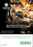 Xbox Live předplacená karta 300 Kč - World of Tanks Edition