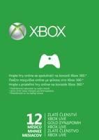 Karta na 12 měsíců pro Xbox Live GOLD (XBOX 360)