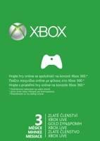Karta na 3 měsíce pro Xbox Live GOLD (XBOX 360)