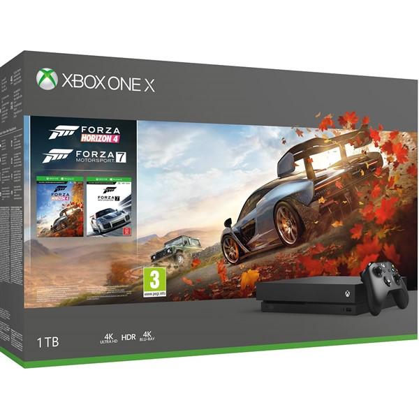 Konzole Xbox One X 1TB + Forza Horizon 4 + Forza Motorsport 7 (XONE)