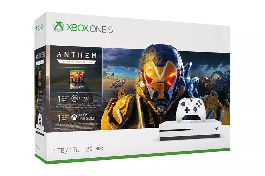 Konzole Xbox One S 1TB + Anthem (XONE)