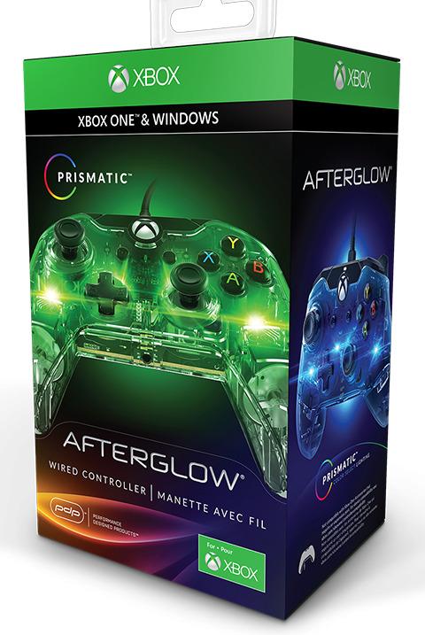 Ovladač drátový PDP Afterglow pro Xbox One a Windows - svítící (XONE)