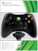 X360 Wireless Controller Black + Play and Charge Kit (XBOX 360)