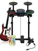 Band Hero + kytara a bubny (XBOX 360)