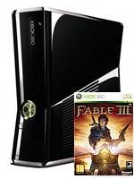 XBOX 360 Slim Black + Fable 3 (XBOX 360)