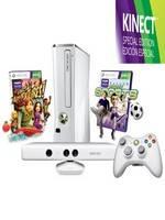 XBOX 360 Slim 4GB WHITE + Kinect + Adventures + Kinect Sports (XBOX 360)
