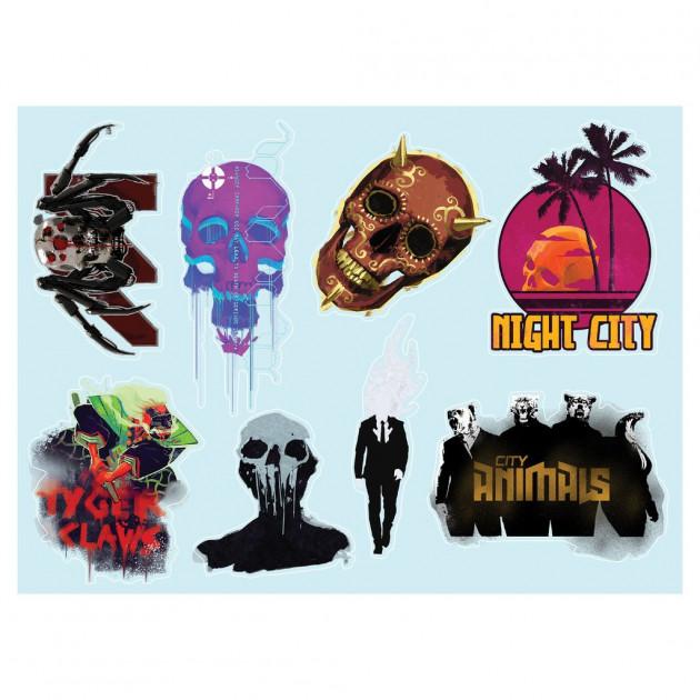 Samolepky Cyberpunk 2077 - Gadget Sticker Sheet