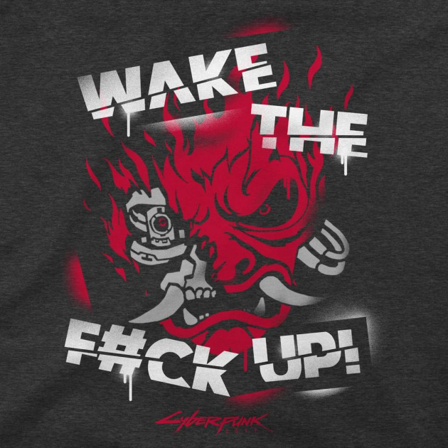 Tričko Cyberpunk 2077 - Wake Up Spray (americká vel. 2XL / evropská XXXL)