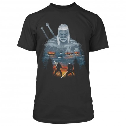 Tričko Zaklínač - Geralt and Eredin (americká vel. XL / evropská XXL)