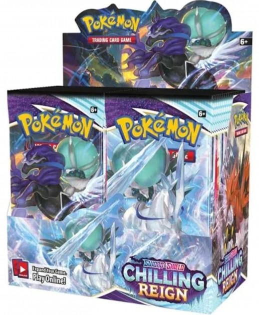 Karetní hra Pokémon TCG: Sword and Shield Chilling Reign - booster (10 karet)