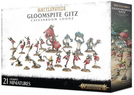 W-AOS: Battleforce: Gloomspite Gitz Caveshroom Loonz (21 figurek)