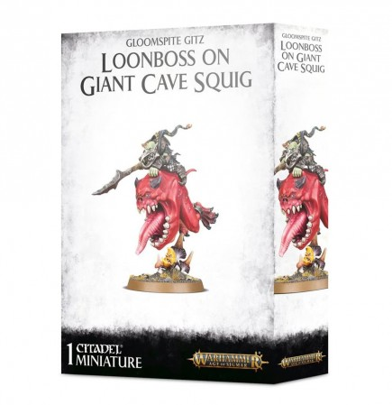 W-AOS: Gloomspite Gitz - Loonboss on Giant Cave Squig
