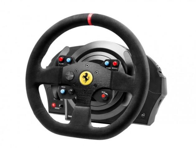 Sada volantu a pedálů Thrustmaster T300 Ferrari 599XX EVO Alcantara (PS5, PS4, PS3, PC)