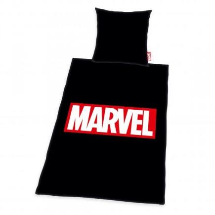 Povlečení Marvel - Logo (černé)
