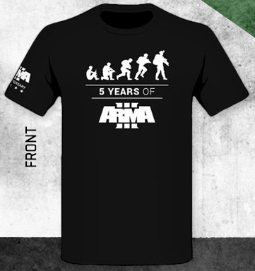 Tričko ArmA III - 5 Years of ArmA III (velikost XXL)