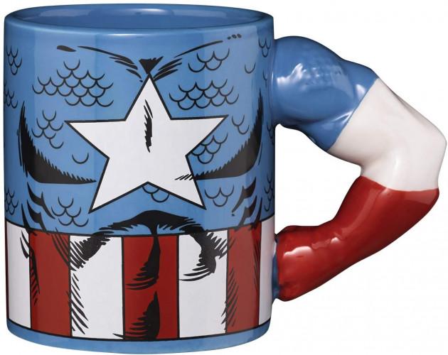 Hrnek Marvel - Captain America (3D)