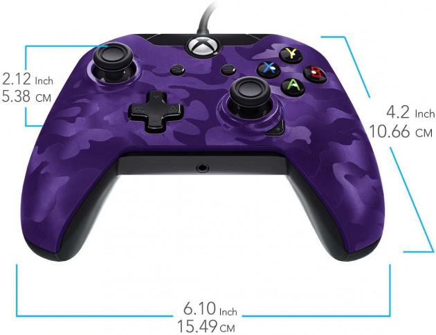 Ovladač drátový PDP DX pro Xbox One a Windows - Purple Camouflage