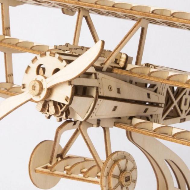 Modern 3D Wooden Puzzle-Non Animals TG301 Bi-Plane
