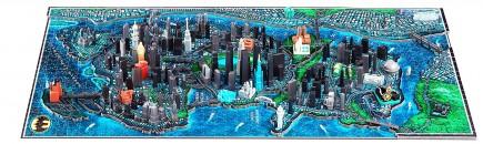 Puzzle Batman - Gotham City Citiscape 4D
