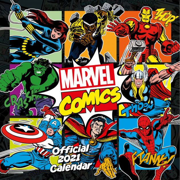 Dárkový set Marvel Comics - 2021 (kalendář, diář, propiska)