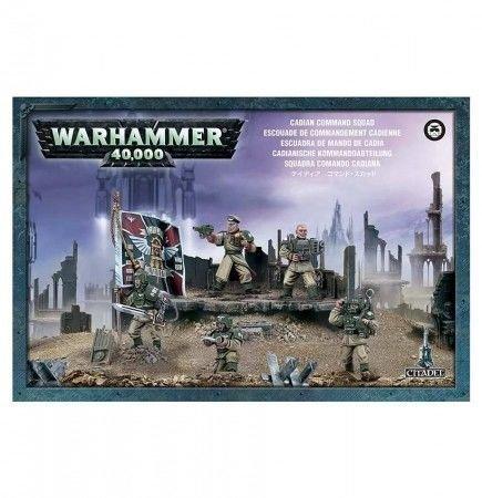 W40k: Imperial Guard - Cadian Command Squad (5 figurek)