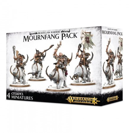 W-AOS: Beastclaw Raiders - Mournfang Pack (4 figurky)